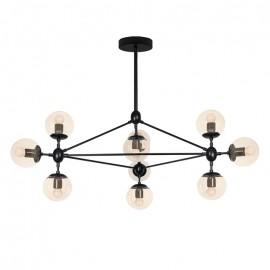 Lámpara techo Edite 10 luces negro