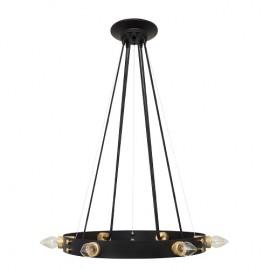Lámpara techo Dulcinea 6 luces negro