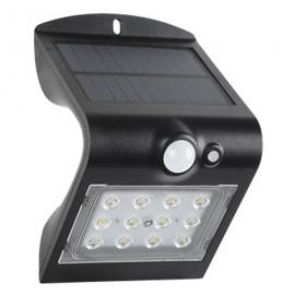 Lámpara aplique exterior solar led 1.2w recargable doble luz sensor