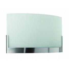 Lámpara aplique pared cristal acero Weldy