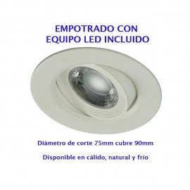 Empotrable Led 8w 2077