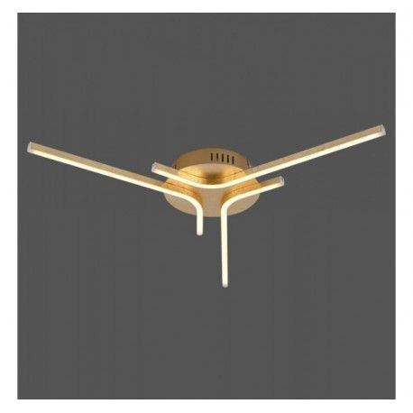 Lámpara Plafón Led Estrella Bauhaus 21w pan oro