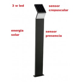 Lampara baliza solar 3w led sensor crepuscular