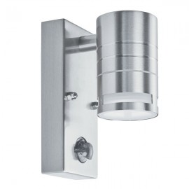 Lampara aplique pared exterior 3w led gabriela c/sensor