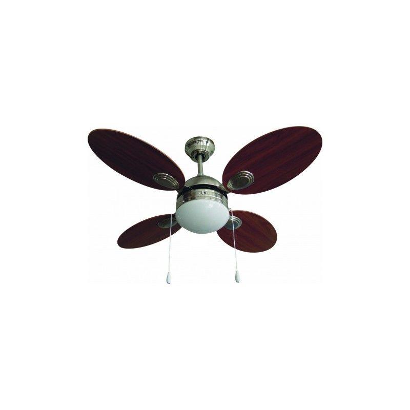 Ventilador de techo con luz mosca somontano luz - Lampara de techo con ventilador ...