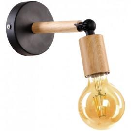 Lámpara aplique 1 foco madera Helsinki