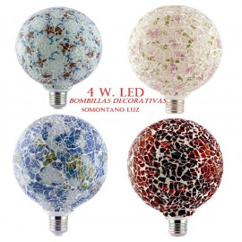 Bombilla Globo 4 w led Tiffany