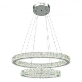 Lámpara techo 72 w led doble cristal