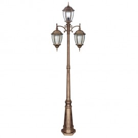 Lampara farola 3 luces tomillo bronce oro