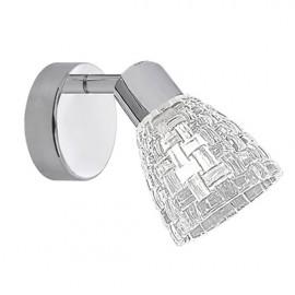 Lámpara foco orientable 1 luz cheers cromo cristal