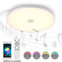 Plafón de techo Led musical con altavoz RGB Kattegat