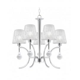 Lámpara 5 luces Victoria pantalla cristal