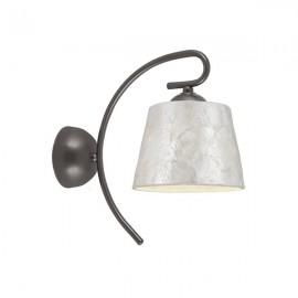 Lámpara aplique pared marron Samira pantalla nacar