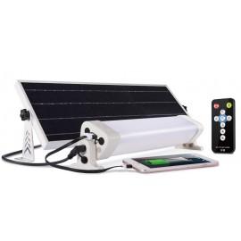 Kit panel solar 12 w led control remoto USB detector presencia