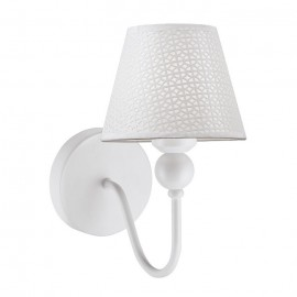 Lámpara aplique pared 1 luz Trisca blanco