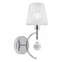 Lámpara aplique pared cristal cromo Victoria