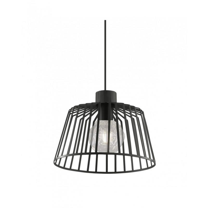 Lámpara de techo rejilla metal negro Bozo