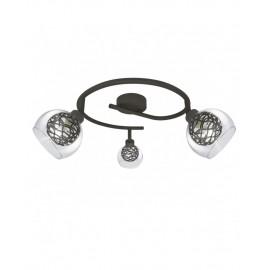 Lámpara plafón espiral 3 focos floki