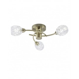 Lámpara techo 3 luces cristal Garbo
