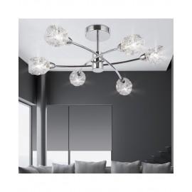 Lámpara de techo Garbo 5 luces cristal