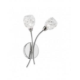 Aplique pared Garbo tulipa cristal
