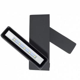 Lámpara aplique exterior 11 w led antracita