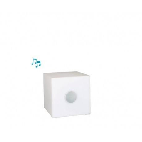 Lámpara altavoz cuadrado con luz musical 20 cm
