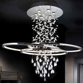 Lámpara de techo bruma (6 gu10 + tira led 82w)