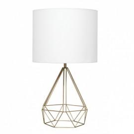 Lámpara mesa geometrica tipo jaula