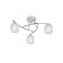 Lámpara plafón 3 luces cristal Portia