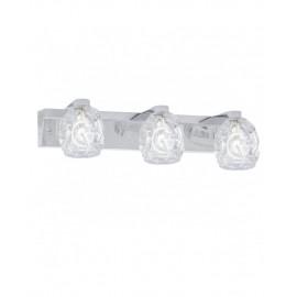 Lámpara aplique de pared 3 luces cristal Portia