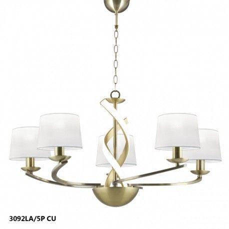 Lámpara de techo scarlett 5 brazos