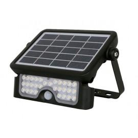Lámpara solar 5w led con sensor movimiento y crepuscular