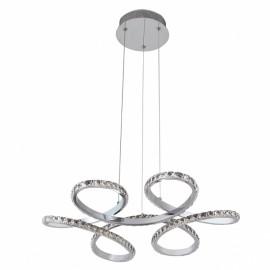 Lámpara colgante 75w led cromo cristal