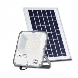 Lámpara proyector solar IP 66 exterior con sensor y mando a distancia