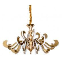 Lámpara de techo de Led 166 w fuego oro