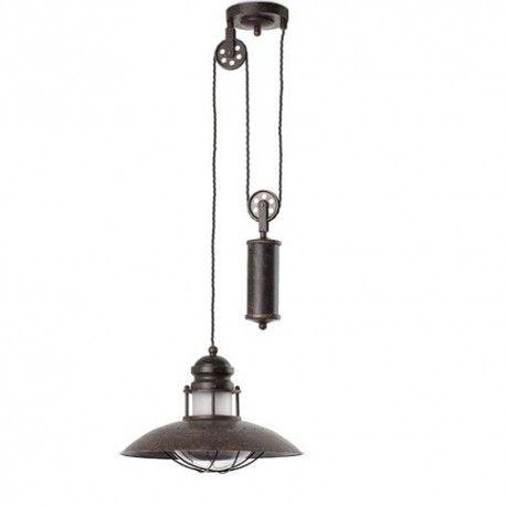 Lámpara de techo rústica Winch