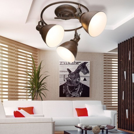 Plafon de techo rustico oxido espiral 3l