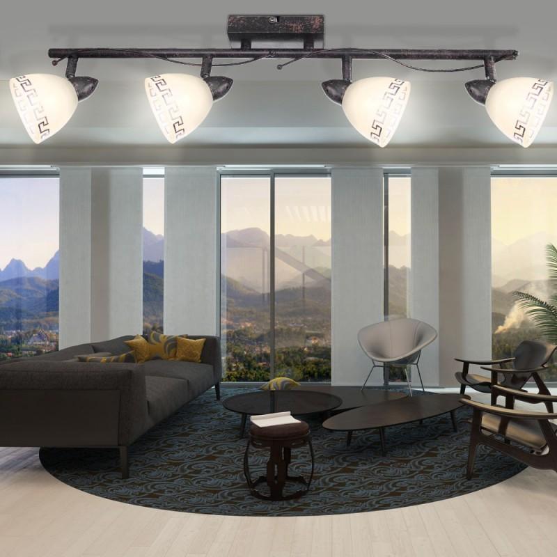 Lampara techo 4 focos orientables somontano luz - Focos empotrados techo ...